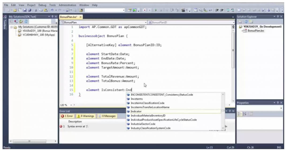 SAP Application Studio, IDE anodius